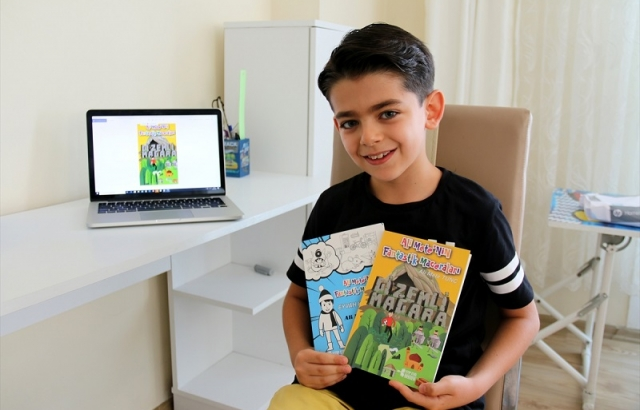 9 yaşındaki öğrenci hikaye kitabı yazdı