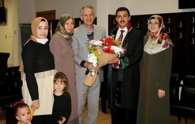 Av. Ahmet Mustafa Ergin'in ruhsat sevinci