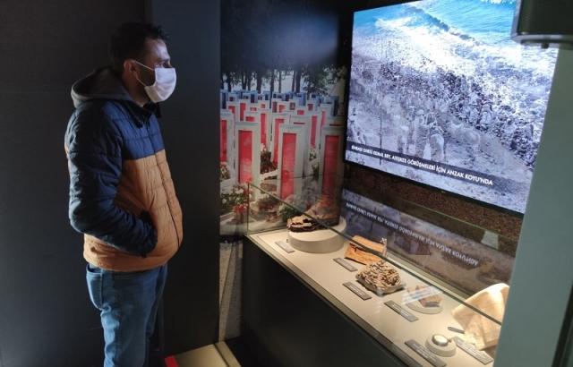 Çanakkale Savaşları Mobil Müzesi ziyaretçilerini ağırladı