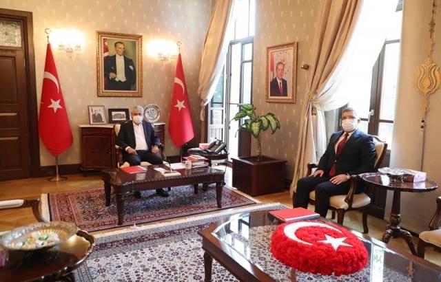 Cemil Müsevitoğlu'dan Vali Doğan'a ziyaret