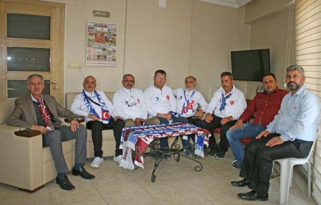Dadaşlardan Sadullah Ergin'e ziyaret