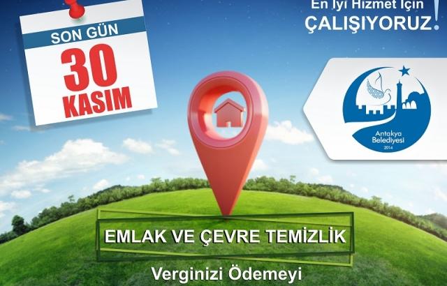 EMLAK VERGİSİ VE İŞYERİ ÇTV İÇİN SON ÖDEME GÜNÜ 30 KASIM!