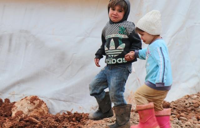 En acı tablo 'onlar savaşın çocukları'