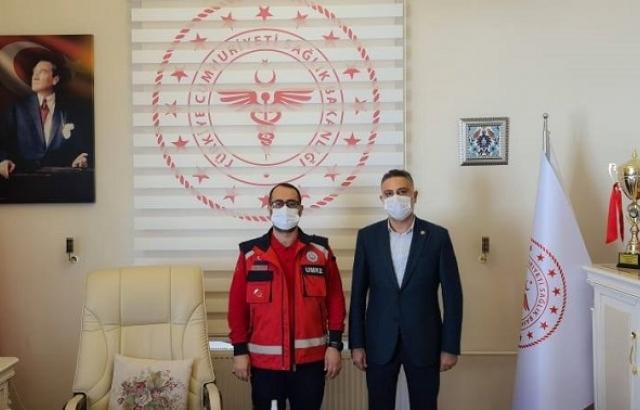 Feleytun Gönç'ten Mustafa Hambolat'a Ziyaret