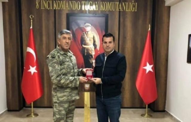 Garnizon Komutanı, Ayhan Kara'yı onurlandırdı