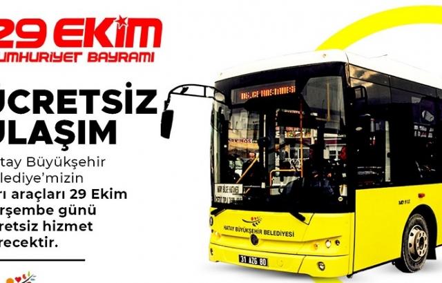 Hatay Büyükşehir'den ücretsiz ulaşım