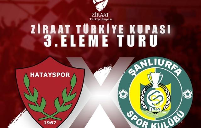 Hatayspor'un kupadaki rakibi Şanılurfaspor
