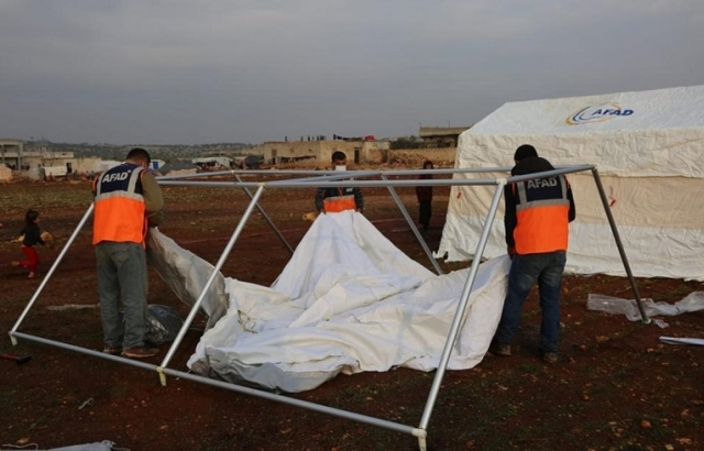 İdlib'deki sel felaketi mağdurlarına yardım eli