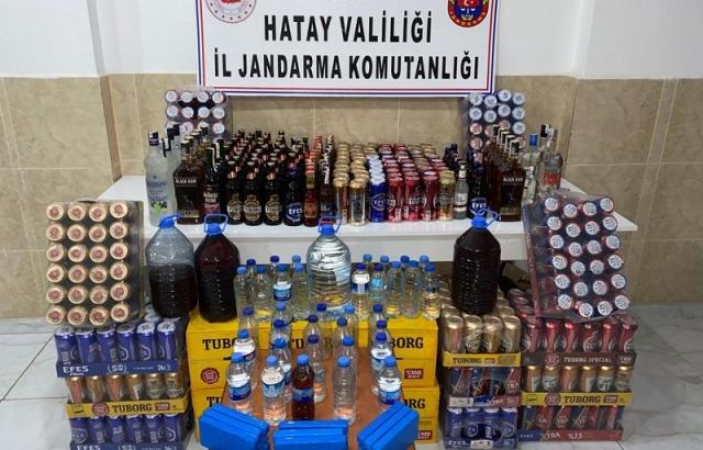 Kaçak Alkolleri, GAZİANTEP'TEN HATAY'A GETİRİYORLAR
