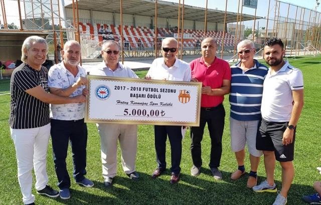 Karaağaçspor'a 5 bin TL başarı ödülü