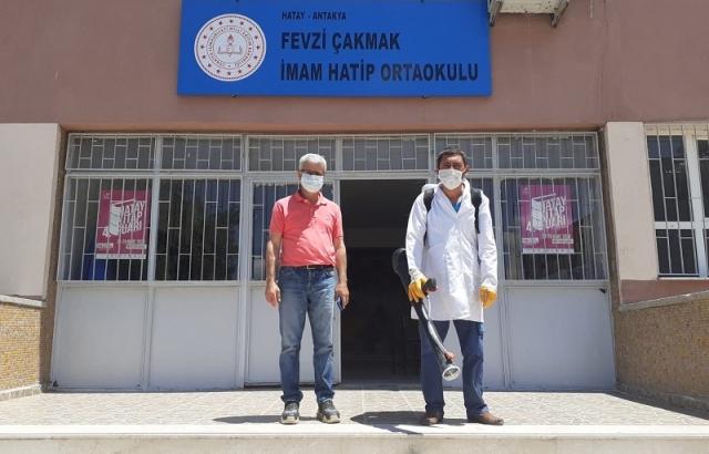 LGS sınavı yapılacak okulları dezenfekte ediliyor