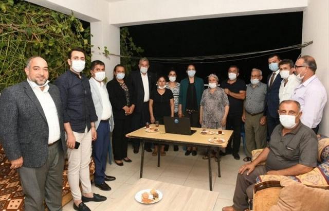 Milletvekili Çelik ve Başkan Yılmaz'dan mahalle ziyareti