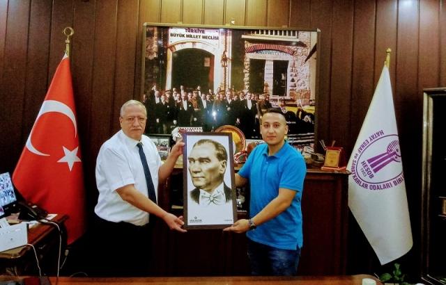 Şef Celil Erkan'dan Başkan Teksöz'e ziyaret