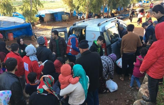 Türk Kızılayından Suriyeli ailelere yardım