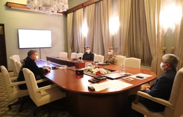 Vali Doğan videokonferans toplantısına katıldı