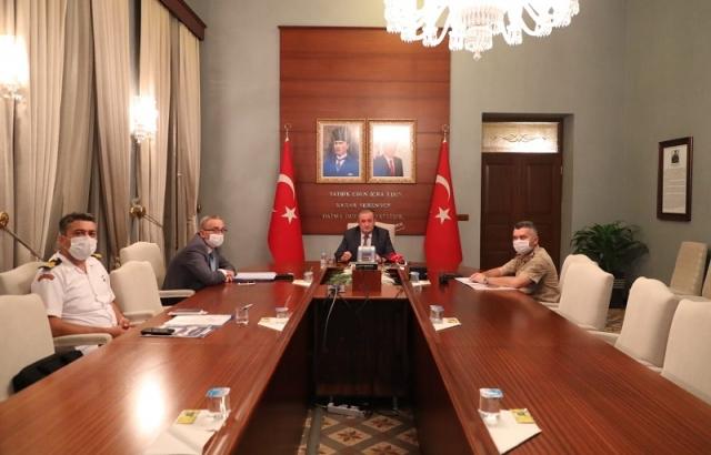 Vali Vekili Tetikoğlu, Bakan Soylu'nun toplantısına katıldı
