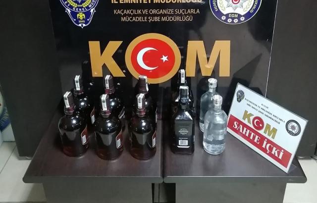 10 şişe kaçak içki ele geçirildi