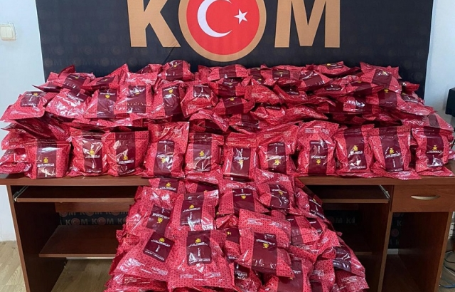 360 kilogram kaçak nargile tütünü ele geçirildi