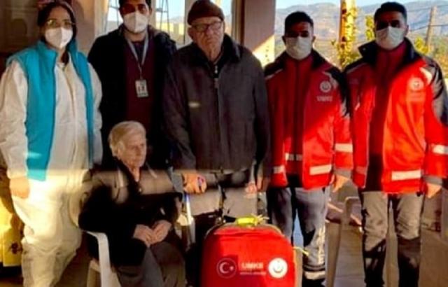 Kore Gazisi Evinde Aşı Yapıldı