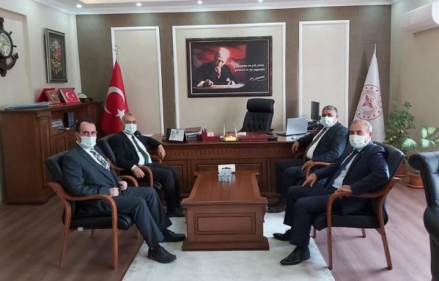 Milletvekili Şanverdi'den Müdür Hambolat'a ziyaret