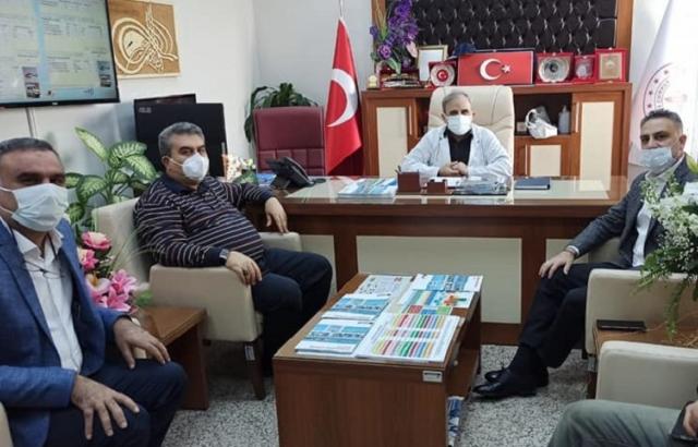 Sağlık-Sen'den Bayrakçıoğlu'na geçmiş olsun ziyareti