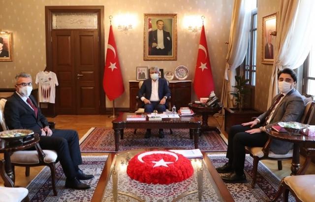 Vali Doğan, Ercan Akar'ı kabul etti