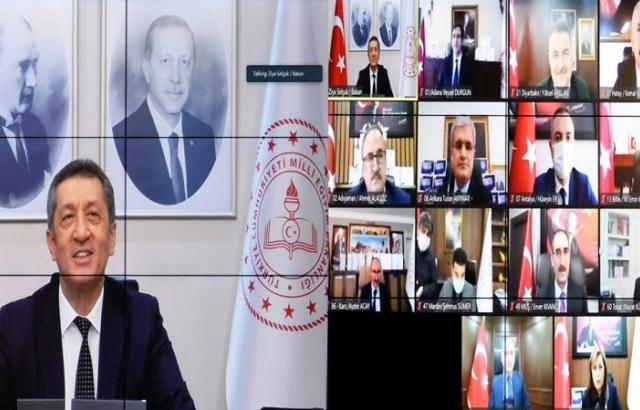 Kemal Karahan video konferans toplantısına katıldı