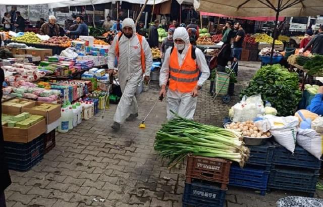 Kırıkhan'da Koronavirüs Tedbirleri Sürüyor