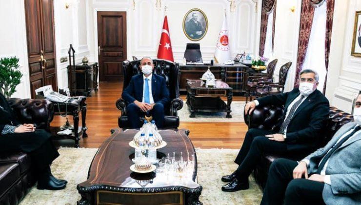 Adalet Bakanı Abdulhamit Gül'ü ziyaret