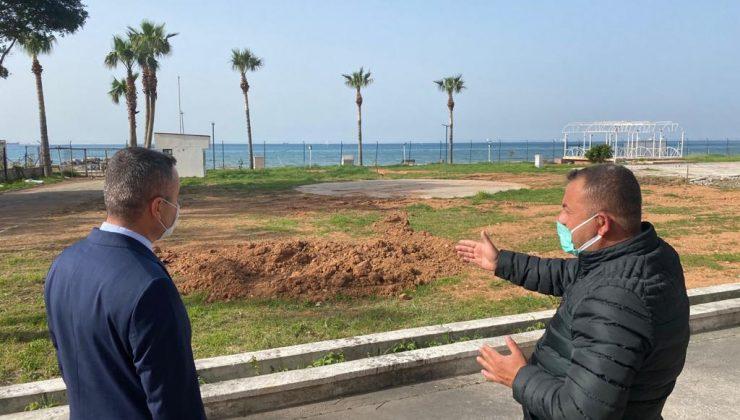 Arsuz'da inşaat alanında inceleme