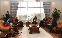 Büyükelçi'den MKÜ'ye ziyaret