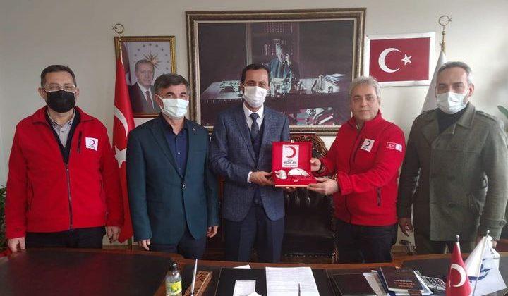 Kızılay'dan Başkan Yalçın'a teşekkür ziyareti