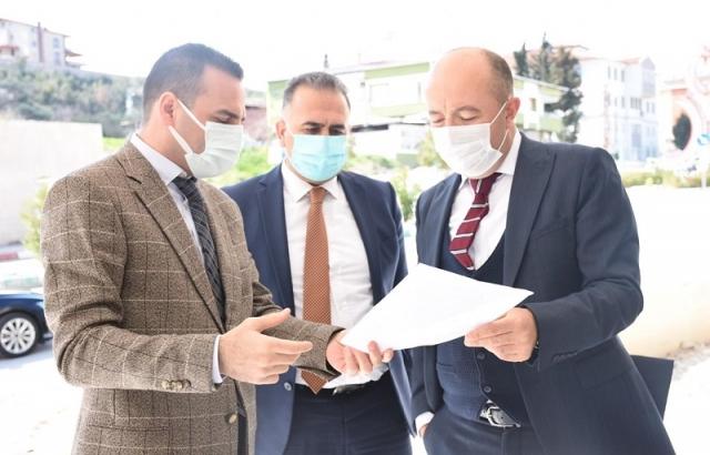 Kaymakam Uygur, yapımı süren sağlık hizmet binasını inceledi