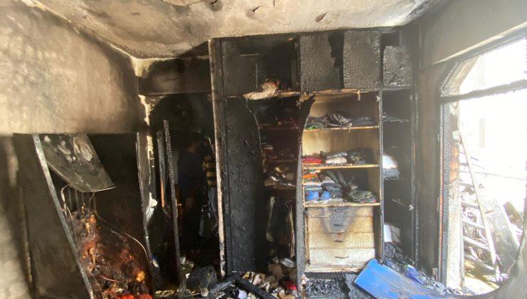 Apartman dairesinde yangın çıktı
