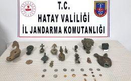 HATAY'DA 36 PARÇA TARİHİ ESER YAKALANDI