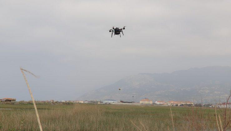 HBB'DEN DRONE İLE İLAÇLAMA