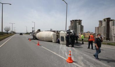 Otomobil ile beton mikseri çarpıştı: 1 ölü