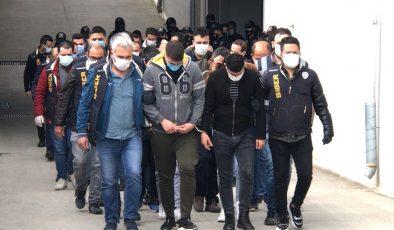 Yakalanan 99 zanlıdan 29'u tutuklandı