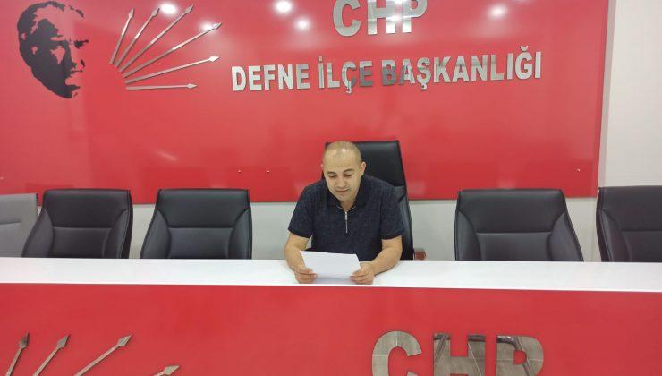 CHP DEFNE'DEN FİLİSTİNE DESTEK