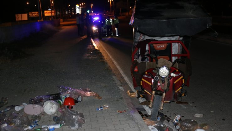 Otomobille 3 tekerlekli motosiklet çarpıştı: 1 yaralı
