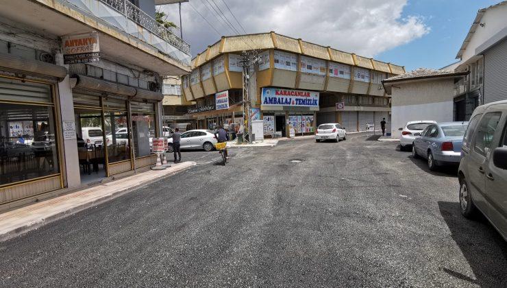 Haraparası Mahallesi Ada Çarşısı'nda Asfaltlama Çalışmaları Tamamlandı