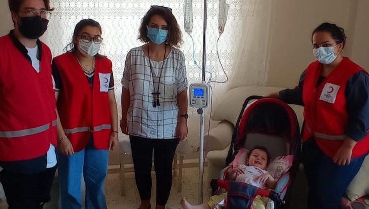 Kızılay hasta çocuğun ihtiyaçlarını temin etti