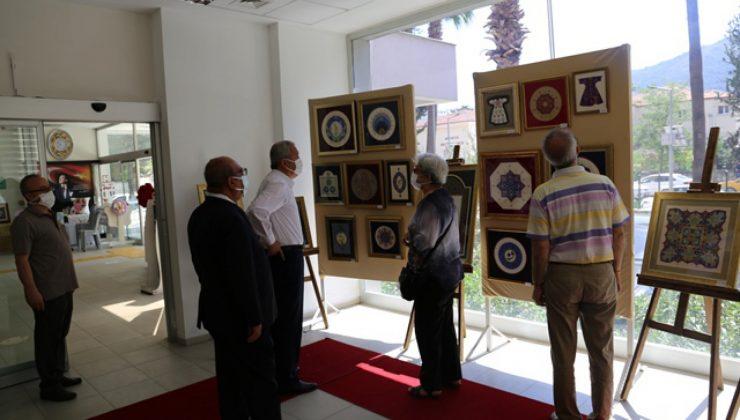 Müdür Karahan, kursiyerlerin sergisine katıldı