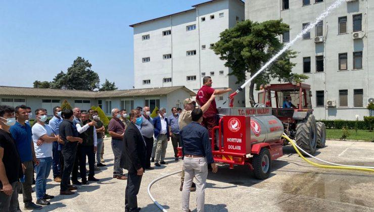 Muhtarlara ve koruyucubaşlarına yangın eğitimi