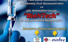 Özel Hastane ve Aile Hekimliklerinde Biontech aşı uygulamaya başladı
