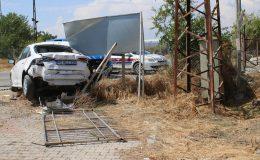 Tanker ile otomobil çarpıştı 2 yaralı