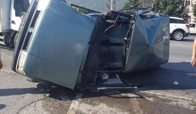 Belen'de korkutan kaza: 2 yaralı