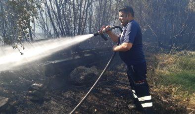 Kırıkhan'da korkutan yangını