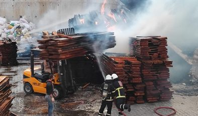 Mobilyacılar Sitesi'nde korkutan yangın