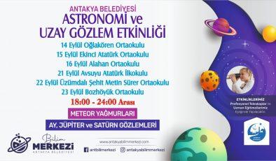 """Antakya'da """"astronomi ve uzay gözlem etkinliği"""" gerçekleşecek"""